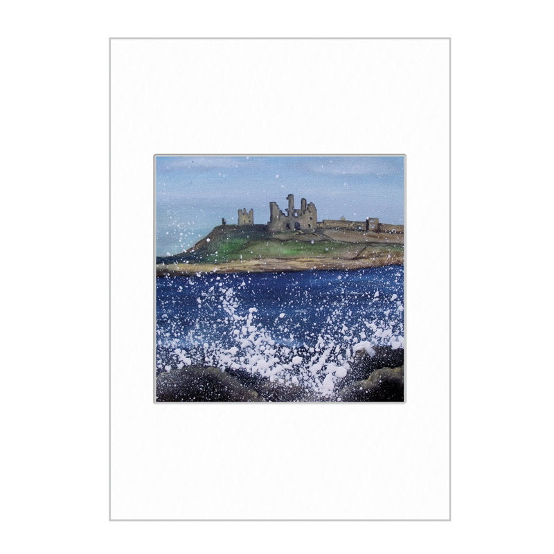 Dunstanburgh Castle Mini Print A4