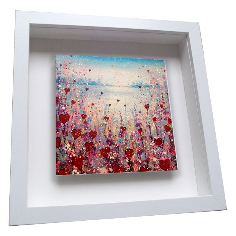Love Flowers - Framed Tile