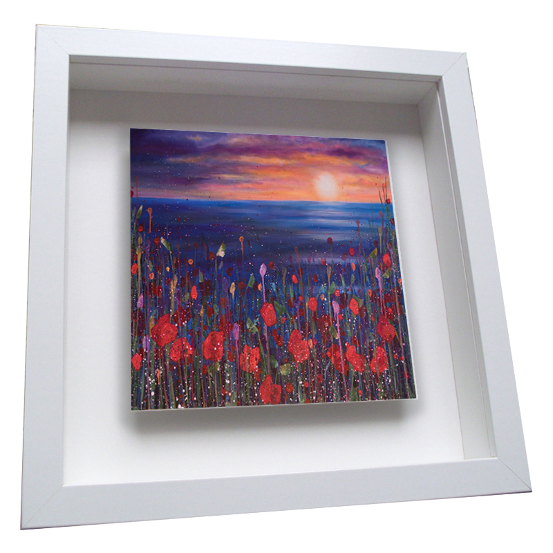 Poppies Sunset - Framed Tile