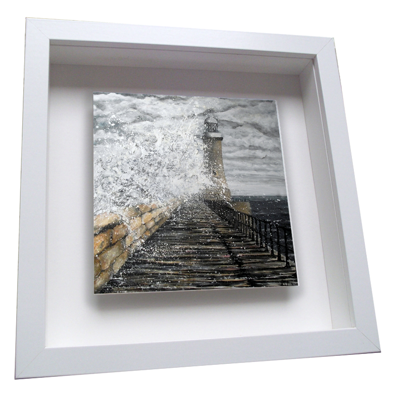 Tynemouth Pier Framed Tile