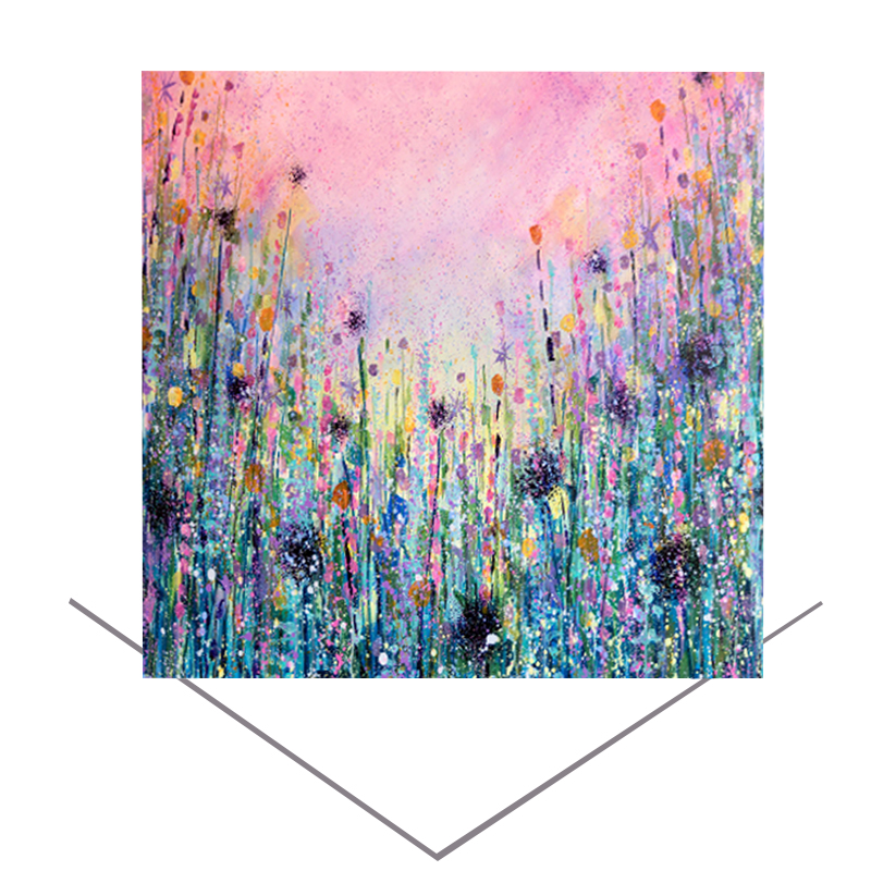 Flowers Meadow Greeting Card