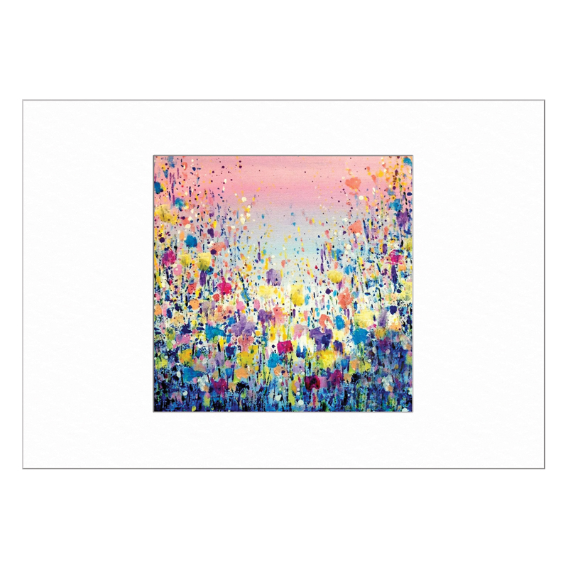 Flowers Blue Limited Edition Print 40x50cm