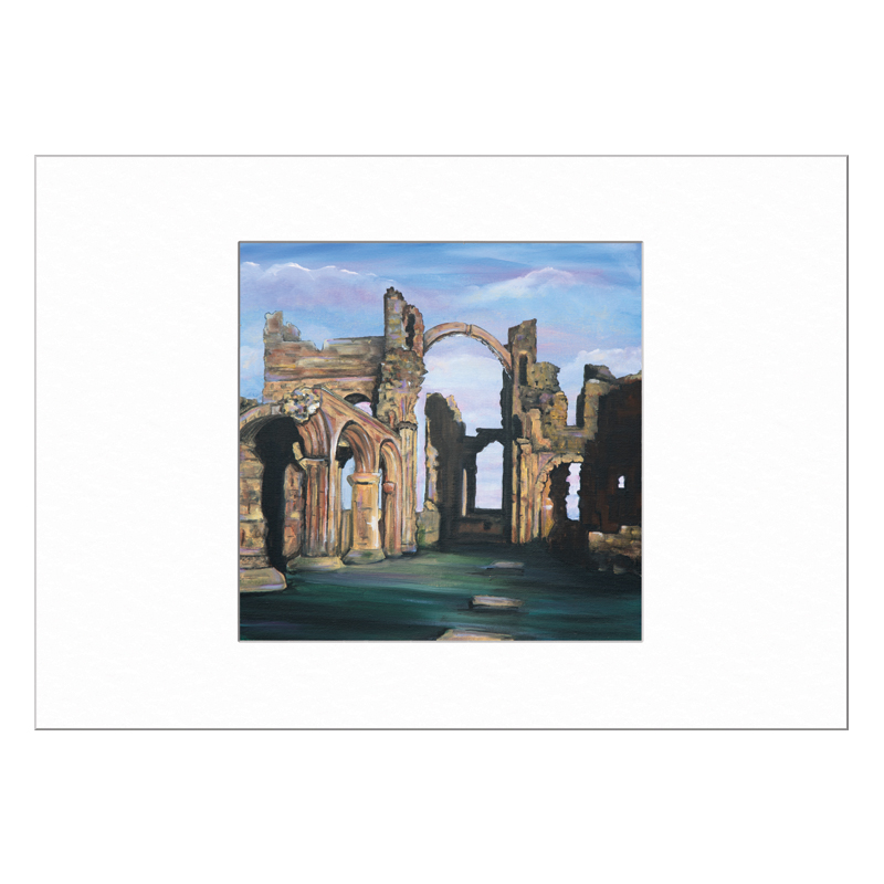 Lindisfarne Priory Limited Edition Print 40x50cm