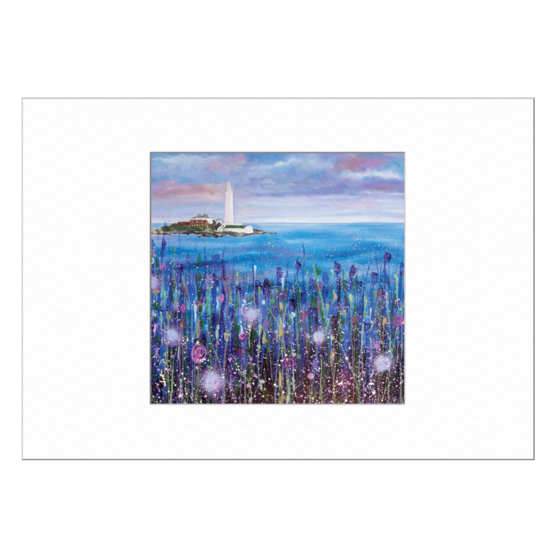 St Marys Lighthouse Blue Limited Edition Print 40x50cm