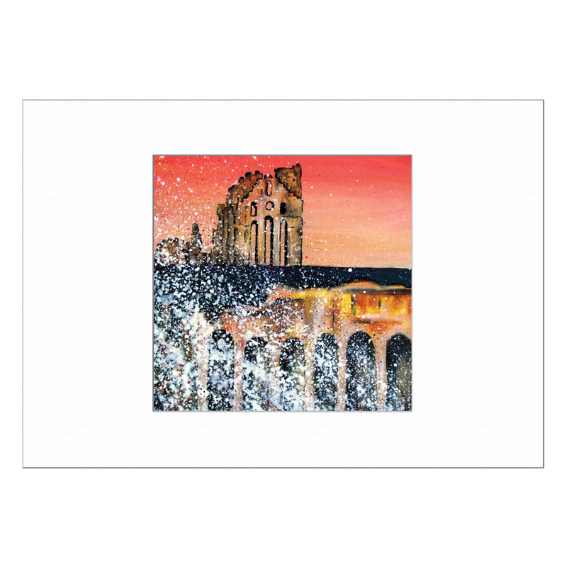 Tynemouth Priory Limited Edition Print 40x50cm