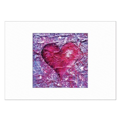 Love Purple Limited Edition Print 40x50cm
