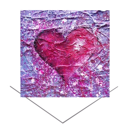 Love Purple Greeting Card