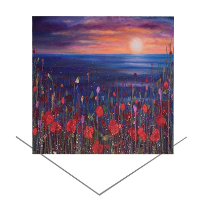Poppies Sunset Greeting Card